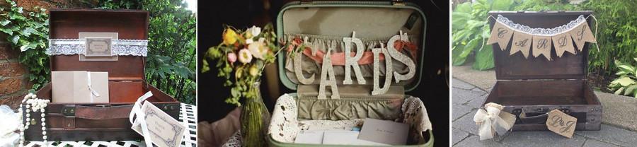 Для любителей путешествий - чемоданы с пожеланиями на свадьбе