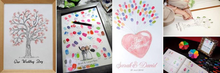 Отпечатки пальцев - оставить на свадьбе