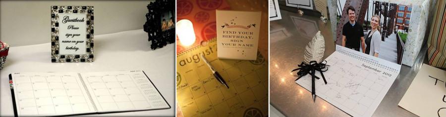 Календарь с поздравленими на свадьубу