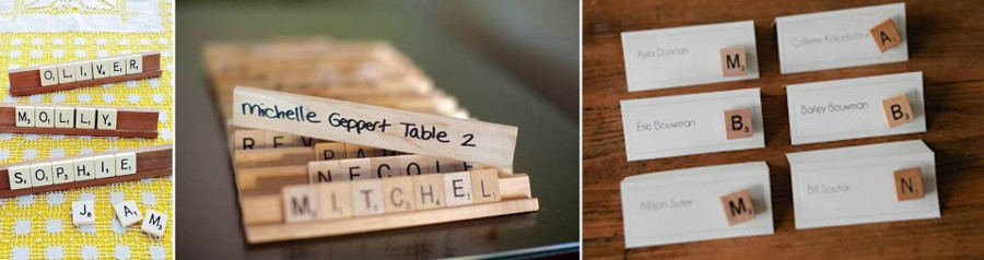 карточки для гостей - набот имени из букв по мативам scrabble