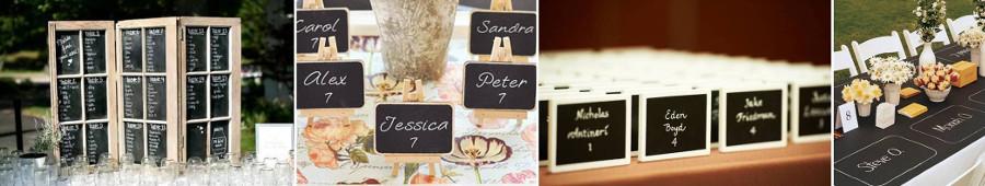 карточки-ленты для рассадки гостей
