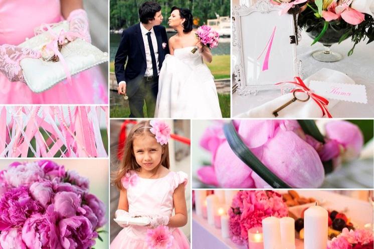 свадебный декор розовый